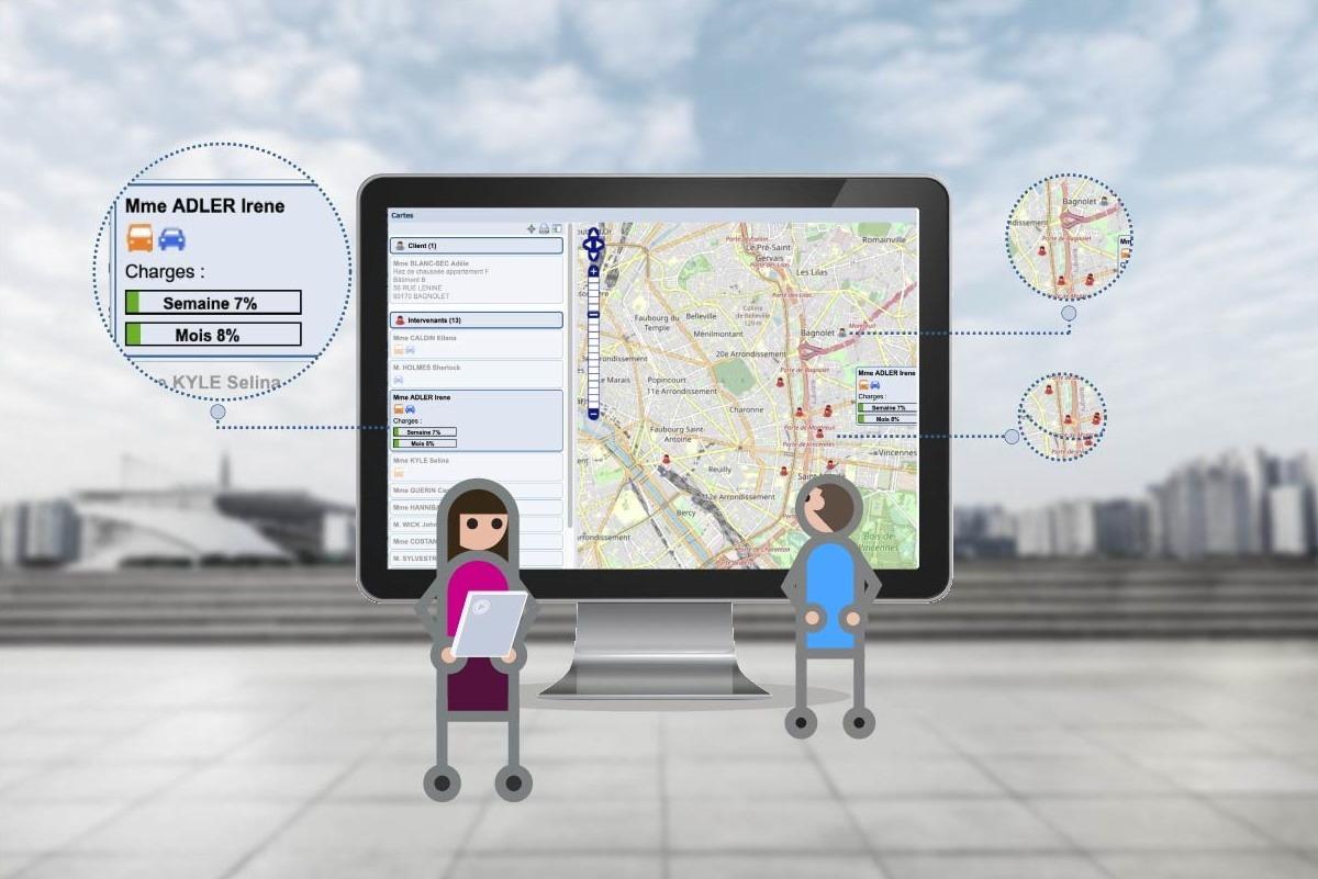 Logiciel aide à domicile - planification et recherche avancée intervenants